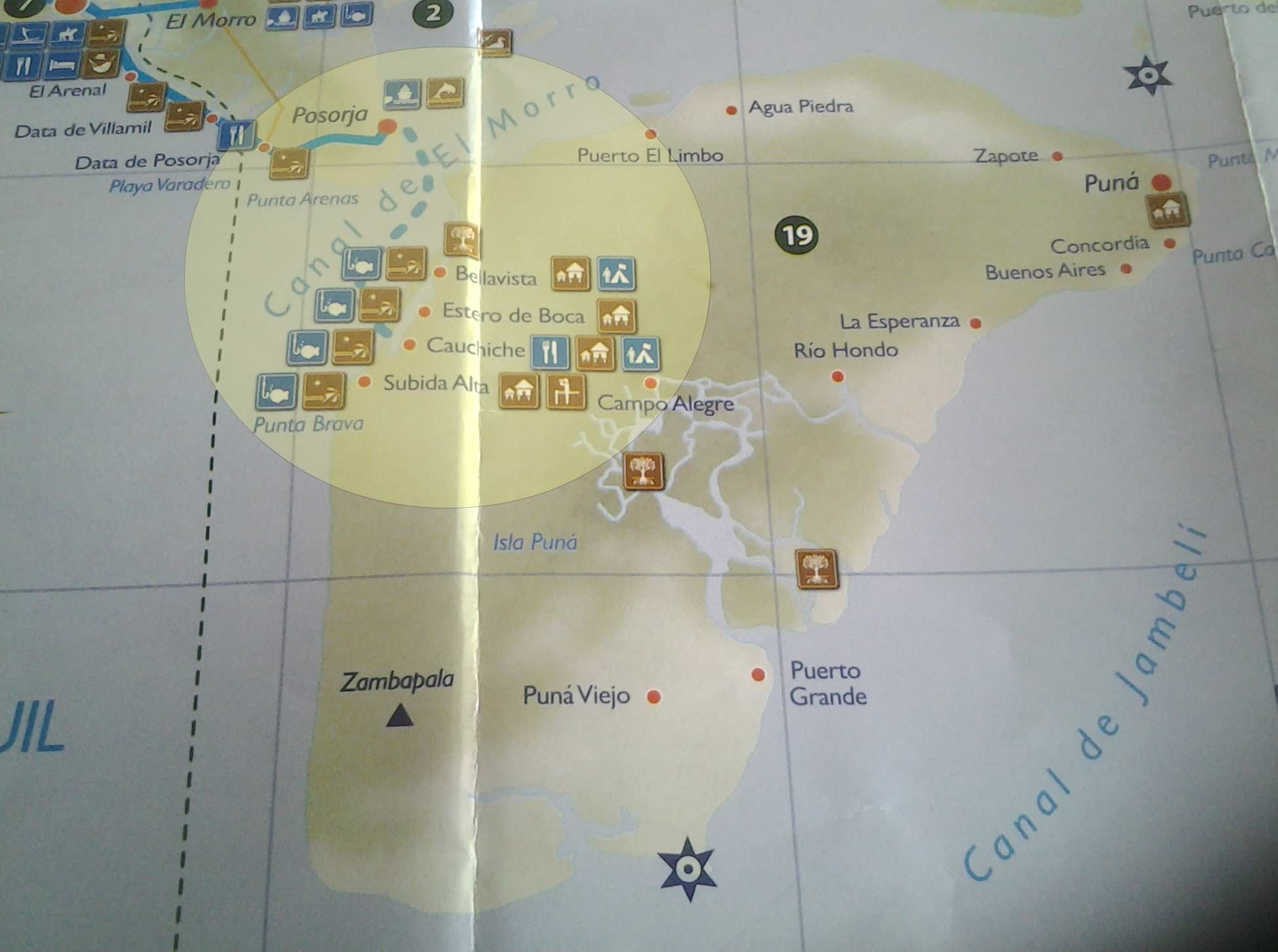 Isla Puna in the bay of Guayaquil has many hiking and camping opportunities.