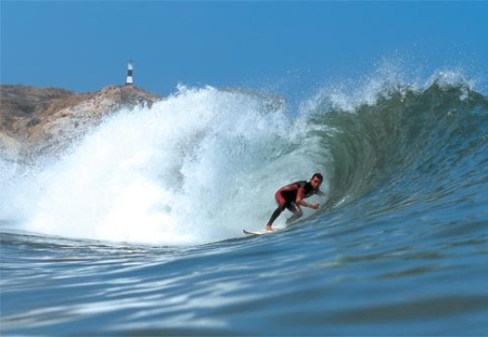 Wave action in Mancora