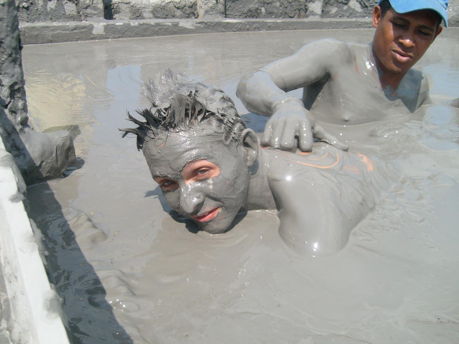 El Totumo mud volcano, near Cartagena, Colombia