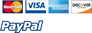 We accept payments from different credit cards and PayPal