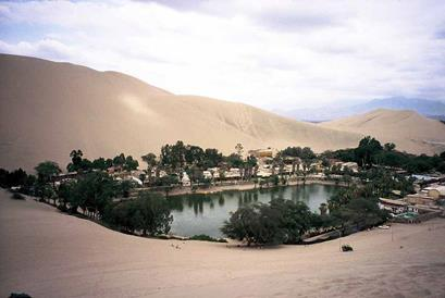 Visit Huacachina, an oasis outside of Ica.